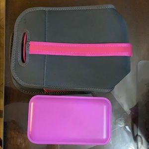 Insulated lunch tote with containers and untensils